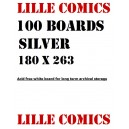 100 BOARDS SILVER SIZE. POUR COMICS VF & US.