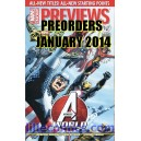 PREVIEWS MARVEL 16. LILLE COMICS PREORDERS. JANUARY 2014.