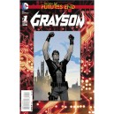 GRAYSON FUTURES END 1. 3-D MOTION COVER. DC NEWS 52.