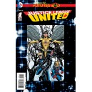 JUSTICE LEAGUE UNITED FUTURES END 1. 3-D MOTION COVER. DC NEWS 52.