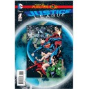 JUSTICE LEAGUE - FUTURES END 1. 3-D MOTION COVER. DC NEWS 52.