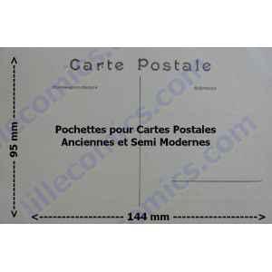 10 POCHETTES POUR CARTES POSTALES ANCIENNES. LILLE COLLECTIONS.
