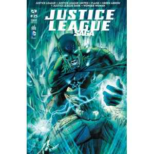 JUSTICE LEAGUE SAGA 25. FLASH. GREEN ARROW. DC COMICS. OCCASION. LILLE COMICS.