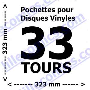 20 POCHETTES POUR DISQUES VINYLES 33 TOURS. 120 MICRONS. LILLE COLLECTIONS.