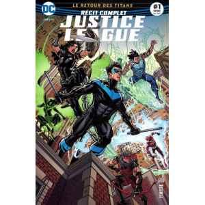 JUSTICE LEAGUE RÉCIT COMPLET 1. LE RETOUR DES TITANS. DC REBIRTH. OCCASION. LILLE COMICS.