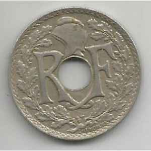 25 CENTIMES. 1938 LINDAUER MAILLECHORT. LILLE COLLECTIONS..