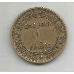 1 FRANC. 1926 CHAMBRE DE COMMERCE. LILLE COLLECTIONS.