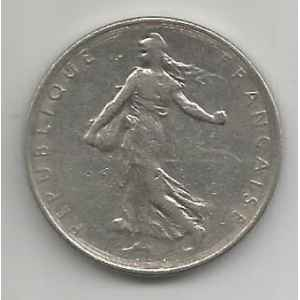 1 FRANC 1972. SEMEUSE. LILLE COLLECTIONS.