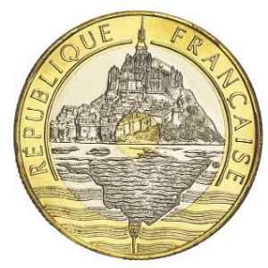 20 FRANCS. MONT SAINT MICHEL 1992 V FERMÉ. LILLE COLLECTIONS.