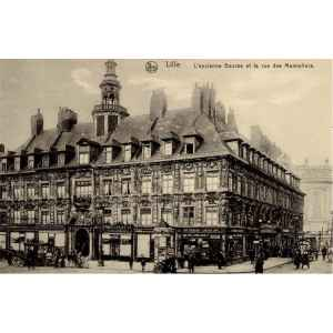 LILLE. LA VIEILLE BOURSE. NELS. CARTE POSTALE ANCIENNE. LILLE COLLECTIONS.