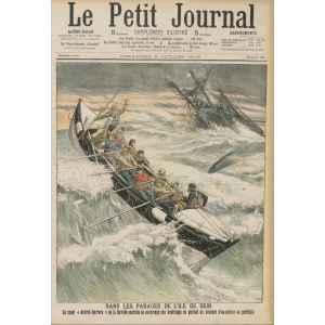 LE PETIT JOURNAL 763 DU 2 JUILLET 190. SAUVETAGE DANS LES PARAGES DE L'ILE DE SEIN. LILLE COLLECTIONS.